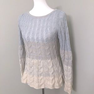 Anthropologie Sparrow Ombré Cable knit sweater